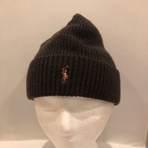 POLO RALPH LAUREN MERINO WOOL BEANIE HAT - NEW